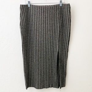 H&M Maxi Skirt Silver Shimmery with Slit